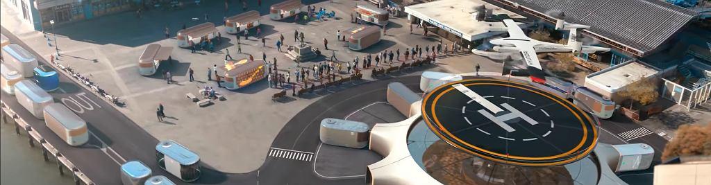 Miasto przyszłości i powietrzne taksówki według Hyundai
