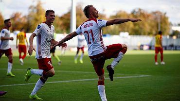 Jan Grzesik cieszy się z gola dla ŁKS