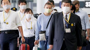 Kryscina Cimanouska ze względów bezpieczeństwa poleciała do Wiednia. Na zdjęciu: Cimanouska na lotnisku Tokio Narita
