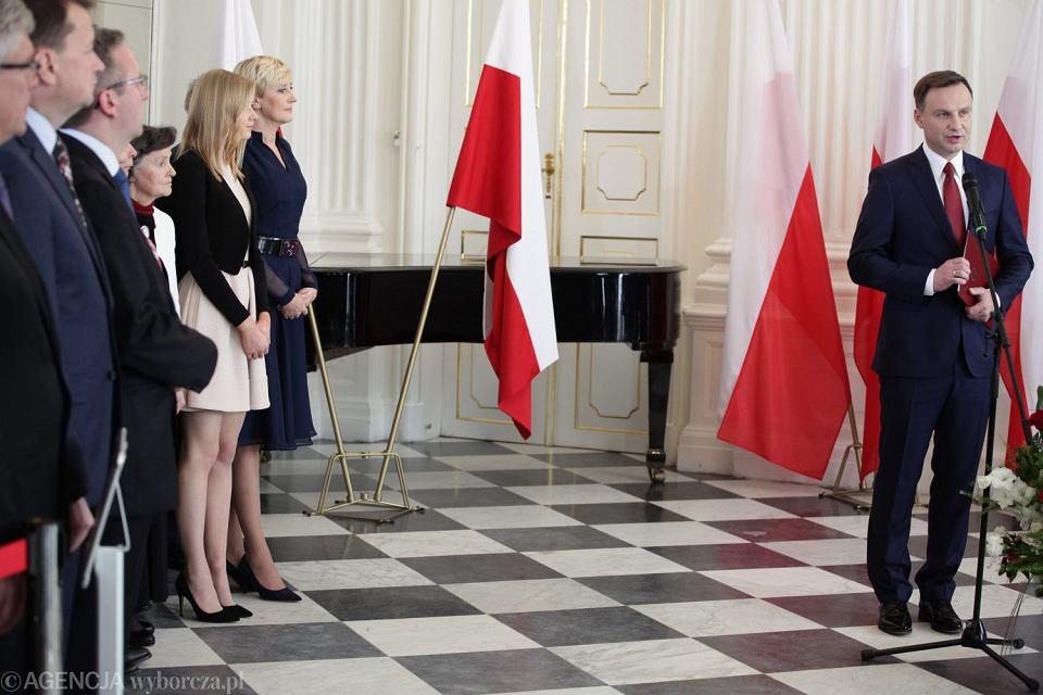 Andrzej Duda przemawia po otrzymaniu uchwały o wyborze