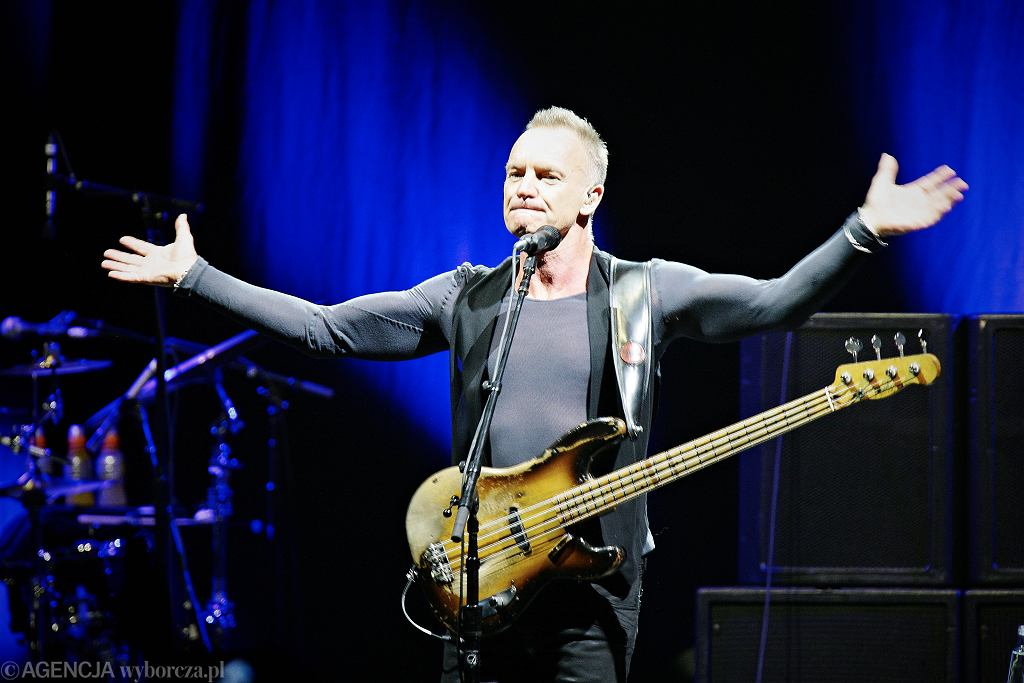 Sting na koncercie w Łodzi w 2012 roku.