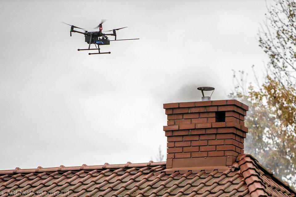 Drony są wykorzystywane w walce ze smogiem
