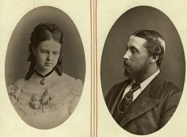Maria Romanowa, najmłodsza córka cara Aleksandra II, i Alfred, książę  Edynburga
