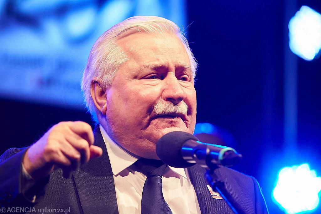 Lech Wałęsa na wiecu 'Moc Solidarności'