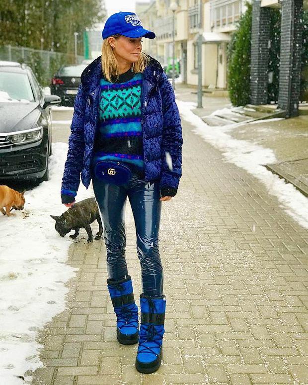 Małgorzata Rozenek w zimowej stylizacji