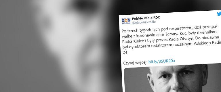 Nie żyje dziennikarz Tomasz Kuc. Od trzech tygodni był pod respiratorem