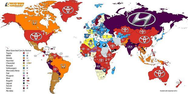 Najczęściej wyszukiwane marki na świecie