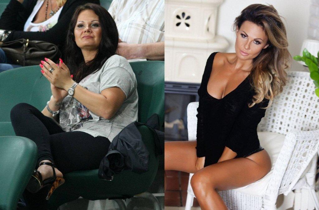 Kamila Saganowska, żona piłkarza Legii, Marka Saganowskiego, przeszła ogromną metamorfozę. Moment, w którym zobaczyła swoje niekorzystne zdjęcie zamieszczone w sieci i nieprzychylny komentarz pod nim - był dla niej przełomowym. Nie mogła uwierzyć, że tak bardzo przytyła. Nie załamała się jednak krytyką, tylko zawzięła i w ciągu zaledwie 7 miesięcy schudła 18 kg. Jej waga początkowa wynosiła 68 kg przy wzroście 154 cm - dziś waży 50 kg, a do tego ma umięśnioną sylwetkę. Teraz nie tylko uprawia sport, ale sama została trenerką personalną. Jej metamorfozę z pewnością można nazwać najbardziej spektakularną. Kamila Saganowska w rozmowie z Plotek.pl zdradziła swój przepis na sukces.