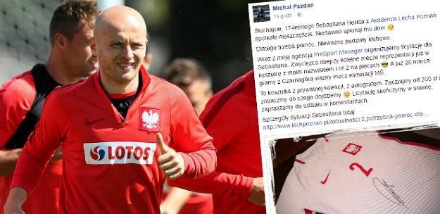 Michał Pazdan zbiera pieniądze dla wychowanka Lecha Poznań