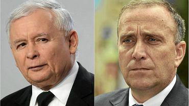 Jarosław Kaczyński i Grzegorz Schetyna