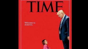 Okładka 'Time'a' z płaczącą dwuletnią imigrantką