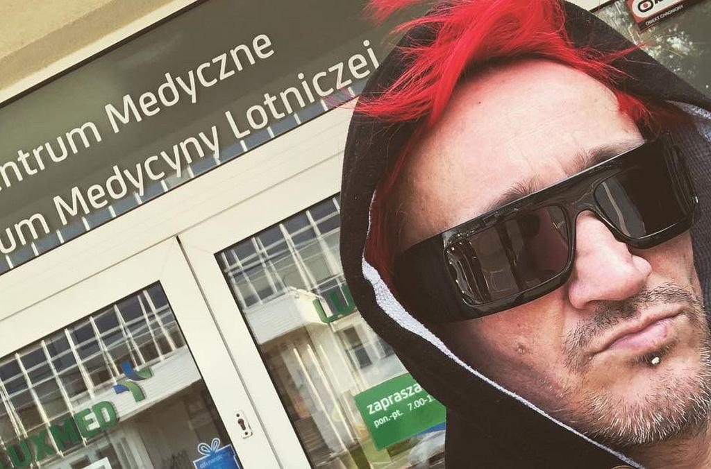 Michał Wiśniewski w Centrum Medycyny Lotniczej