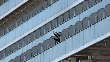 Objęty kwarantanną statek wycieczkowy Diamond Princess w porcie w Jokohamie