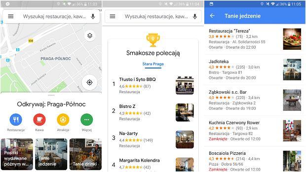 Zaktualizowane Mapy Google