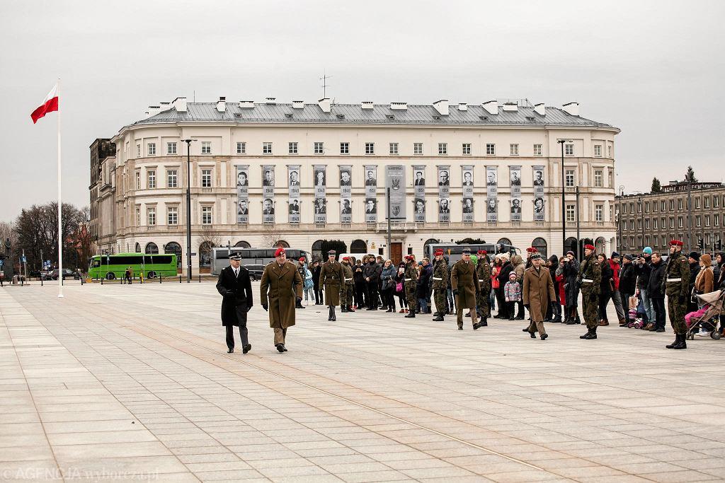 Uroczystość z okazji 90. rocznicy ustanowienia Mazurka Dąbrowskiego hymnem państwowym, luty 2017 r.