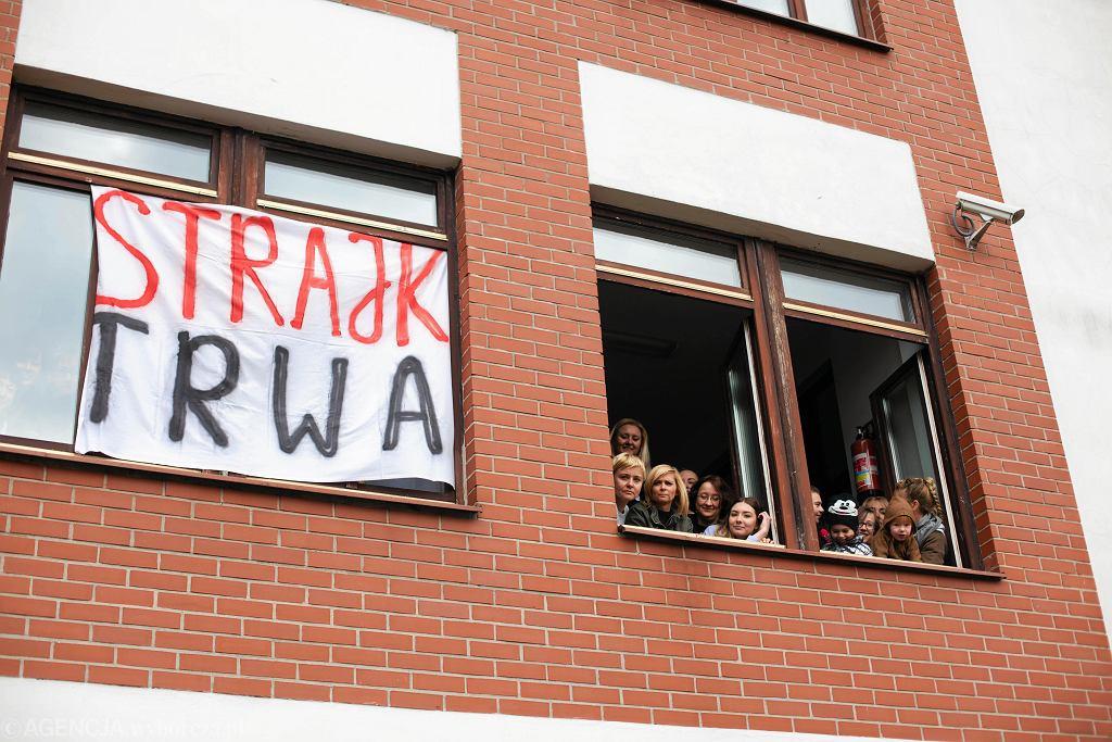 Ogólnopolski strajk nauczycieli, Gdańsk, Zespół Kształcenia Podstawowego i Gimnazjalnego nr 24, 12 kwietnia 2019