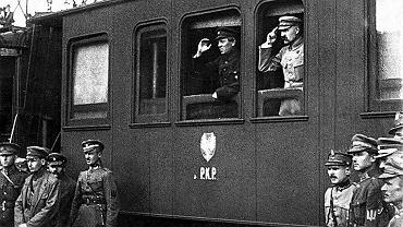 Ataman Symon Petlura i marszałek Józef Piłsudski w Winnicy w kwietniu 1920 r.