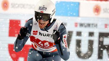 Piotr Żyła po drugim skoku w konkursie na dużej skoczni podczas MŚ w Oberstdorfie