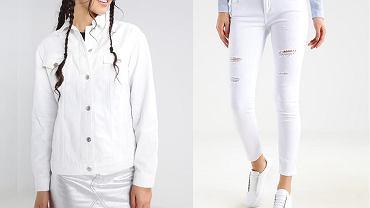 Biały jeans