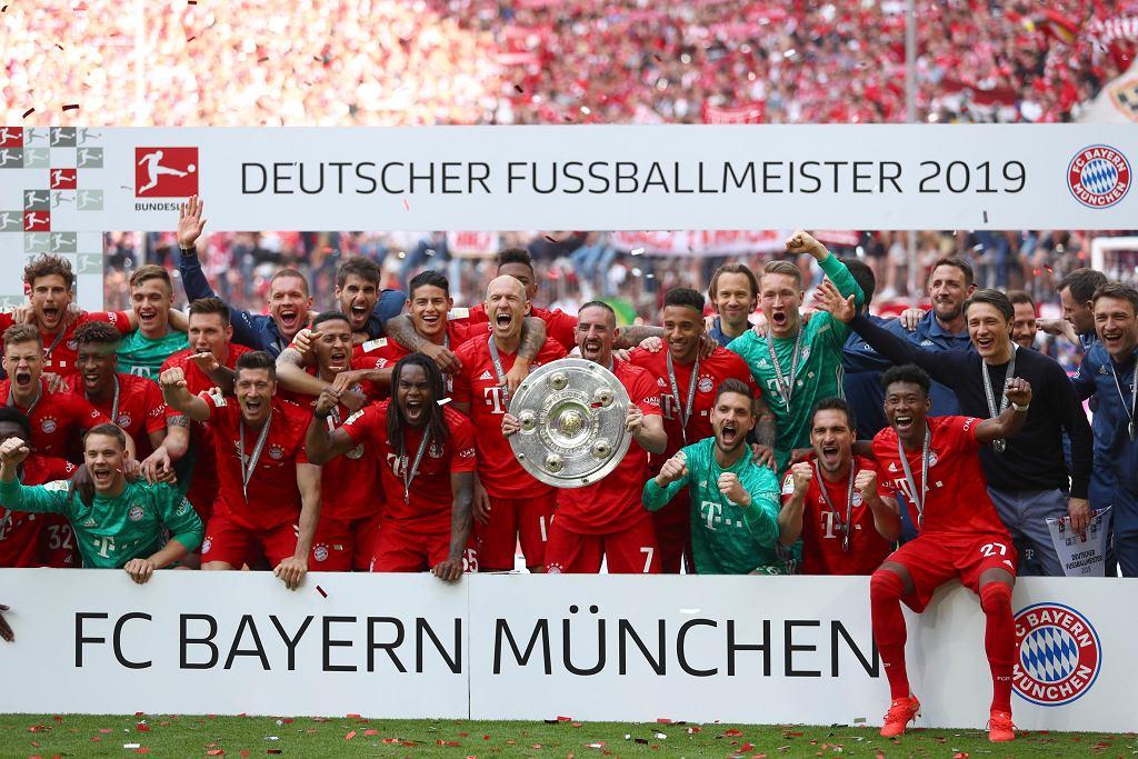Radość piłkarzy Bayernu.