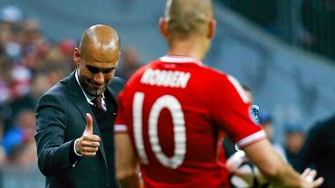Pep Guardiola i Arjen Robben