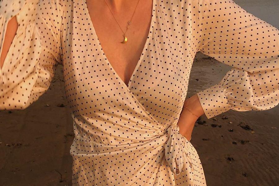 sukienka w groszki H&M