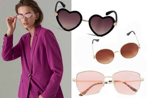 Kolaż / Modne okulary damskie