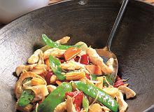 Smażony kurczak z  warzywami - ugotuj