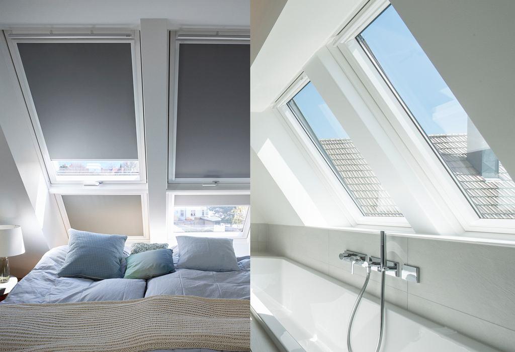 Funkcjonalna sypialnia i łazienka na poddaszu