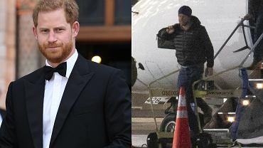 """Książę Harry przyleciał do Londynu na pogrzeb dziadka. Przywitała go tylko jedna osoba z rodziny. """"Już tęskni za żoną"""""""