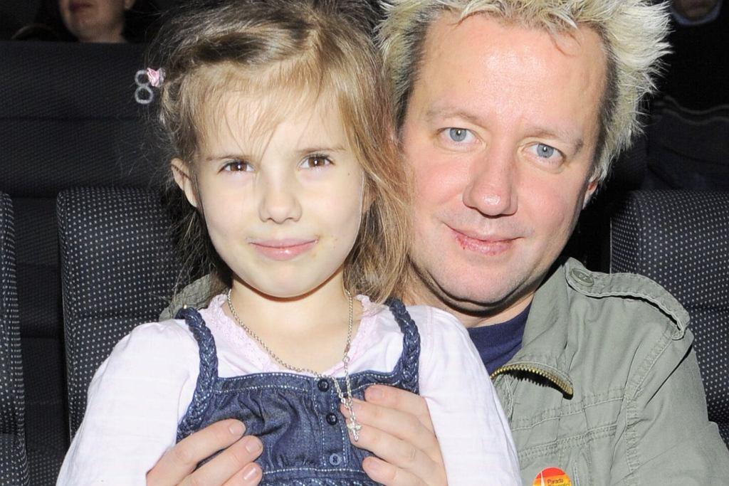Robert Leszczyński z córką