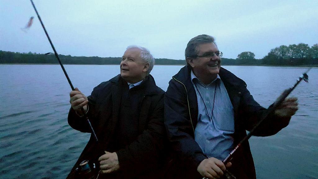 Jarosław Kaczyński i Czesław Hoc