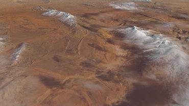 Śnieg na Saharze sfotografowany przez satelitę 8 stycznia 2018 roku