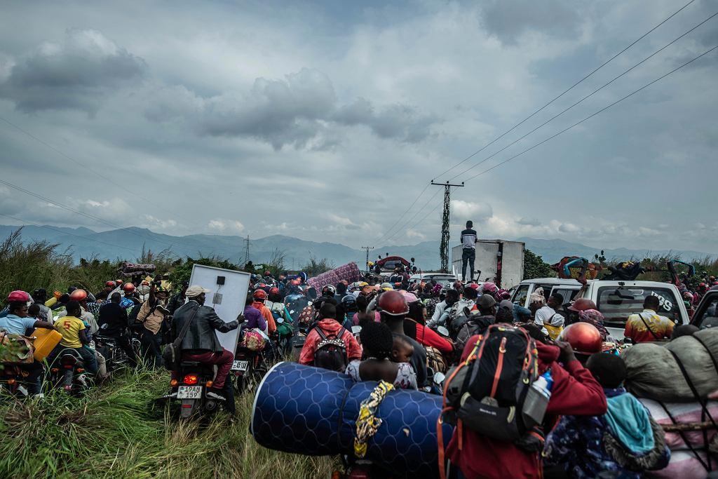 Mieszkańcy Gomy uciekają z miasta