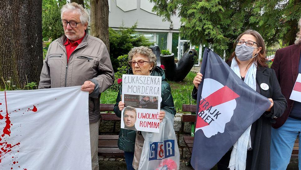 Pikieta dla Wolnej Białorusi, Zielona Góra, 28 maja 2021 r.