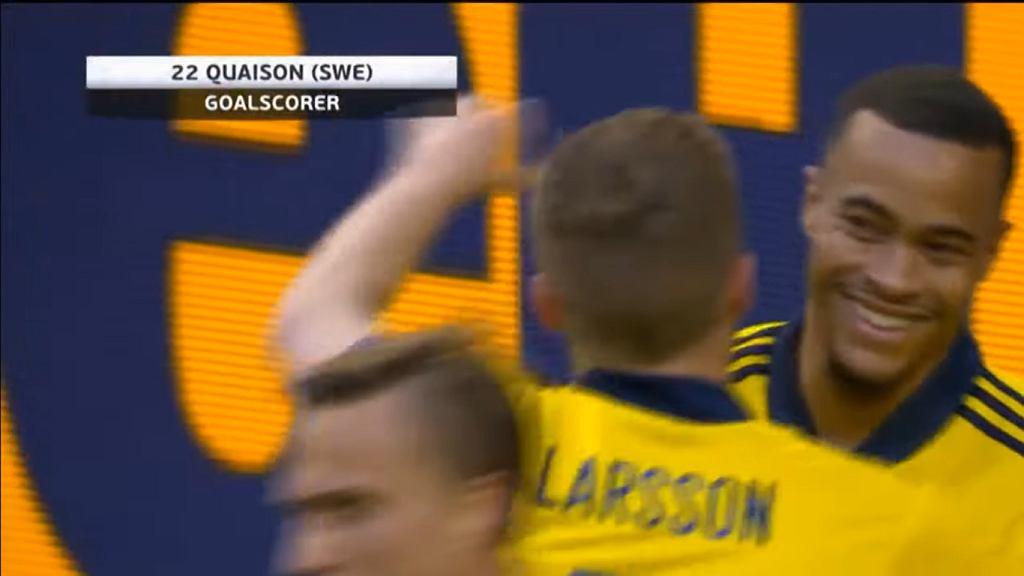 Robin Quaison po bramce w meczu z Finlandią