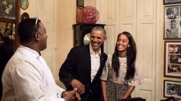 Barack Obama i Malia Obama