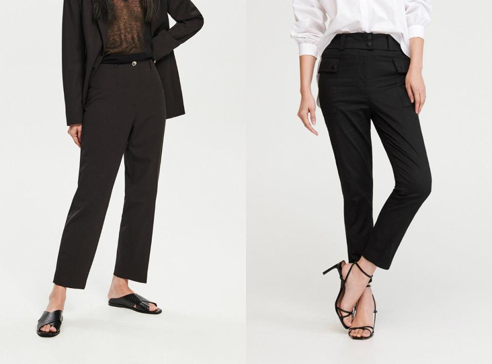 Czarne spodnie z sieciówek