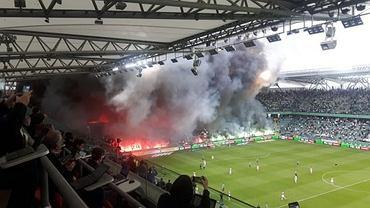 Dym na stadionie Legii