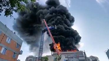 Pożar budynku na ul. Wadowickiej w Krakowie
