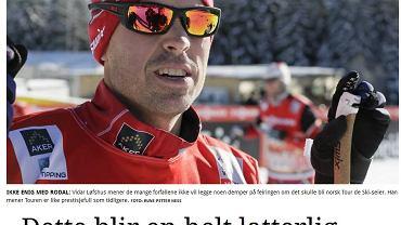 'To absurdalna dyskusja. Tour nie stracił na prestiżu' - twierdzi trener norweskiej kadry Vidar Lofshus