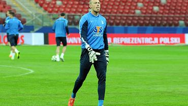 Lech Poznań trenuje na Stadionie Narodowym przed finałem Pucharu Polski. Maciej Gostomski