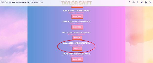 Trasa koncertowa Taylor Swift