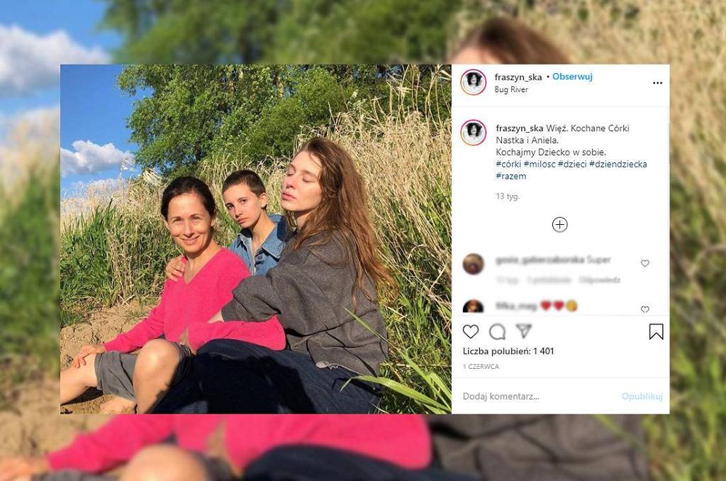 Jolanta Fraszyńska z córkami