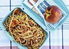 Drugie śniadanie. Spaghetti z kurczakiem i pomidorami - Zdjęcia