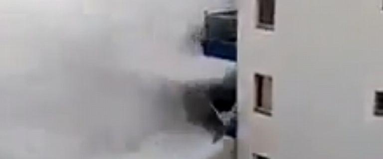 Sześciometrowe fale uszkodziły blok na Teneryfie. Ewakuowano mieszkańców