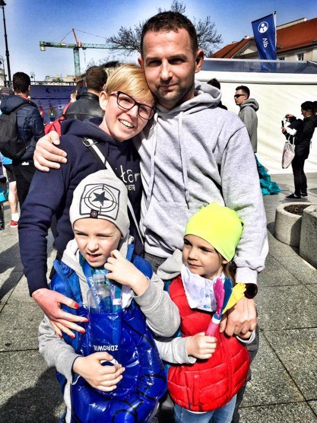 Ola Sulej-Dąbrowska z rodziną
