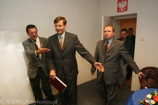 Ryszard Zembaczyński (po środku), Ireneusz Jaki (po prawej)