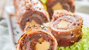 Roladki z mielonego mięsa z serem
