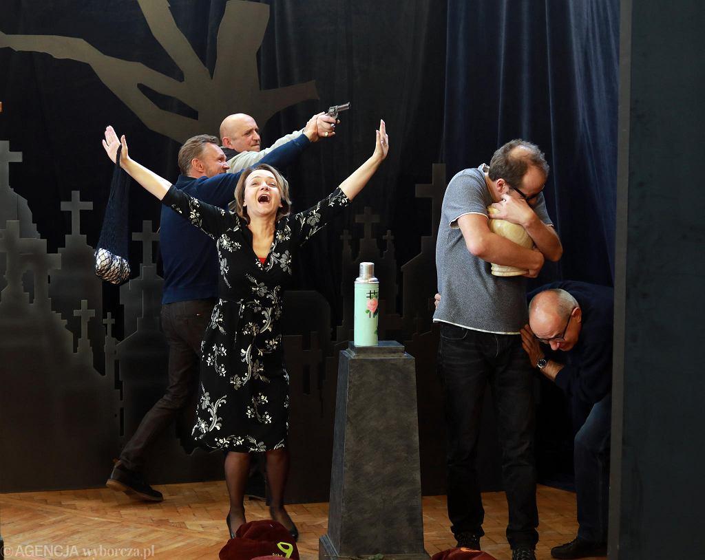 Próba spektaklu 'Ucho Prezesa, czyli scheda', Teatr 6. Piętro.  / JACEK MARCZEWSKI